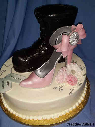 Fashion 71 Combat Boot and High Heel Birthday Cake