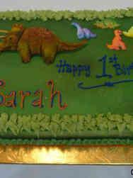 Neutral 23 Dinosaurs First Birthday Cake
