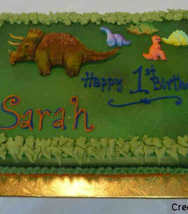 Neutral 23 Dinosaurs First Birthday Cake
