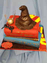 Movies 20 Books and Sorting Hat Harry Potter Birthday Cake