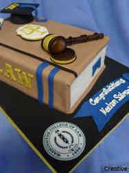Grad School 18 Washington College of Law Book and Gavel Law School Graduation Cake