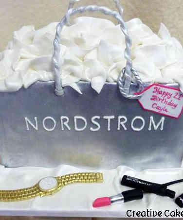 Fashion 54 Nordstrom Shopping Bag Birthday Cake