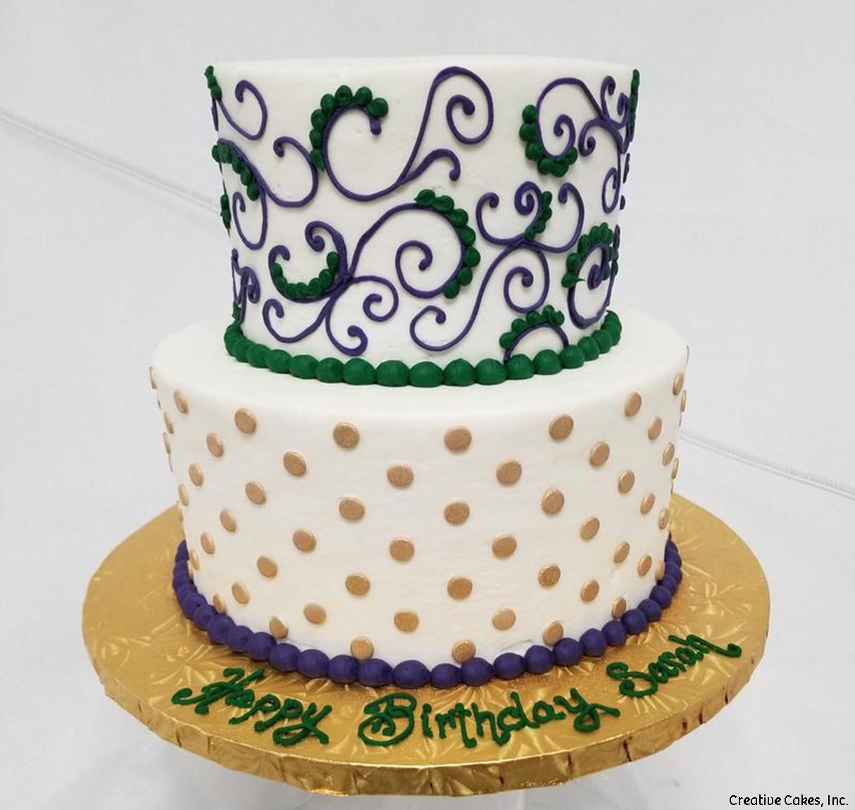Feminine 10 New Orleans Pipe Birthday Cake