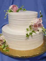 Simple 20 Spatula Stripes and Tulips Wedding Cake