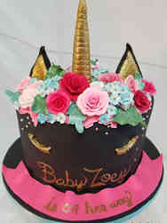 Girls 08 Ollie the Unicorn Baby Shower Cake