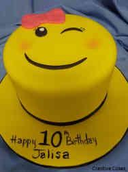 Unique 47 Winky Emoji Birthday Cake