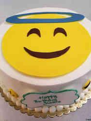 Unique 25 Angel Emoji Birthday Cake