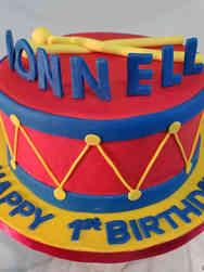 Boys 15 Drummer Boy Birthday Cake
