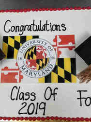 Grad School 25 University of Maryland Graduation Cake
