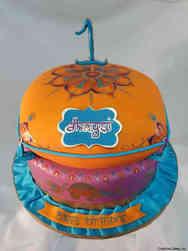 Feminine 41 Colorful Pillows Birthday Cake