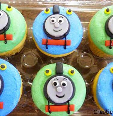 Kids 21 Thomas the Tank Engine Birthday Cupcakes