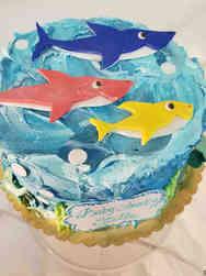 Animals 41 Baby Shark Family Birthday Cake