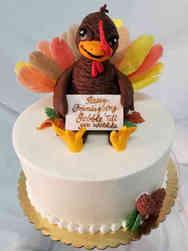Autumn 17 Happy Turkey Thanksgiving Cake
