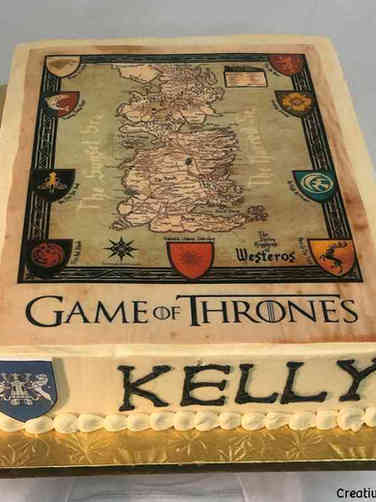 Pop 49 Game of Thrones Map Birthday Cake
