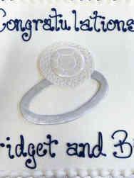 Dress 09 2D Diamond Ring Engagement Cake