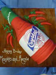 Food 19 Crystal Hot Sauce Bottle Birthday Cake