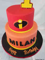 Neutral 32 Incredibles First Birthday Cake