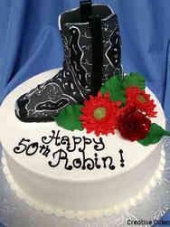 Fashion 12 Cowboy Boot Birthday Cake