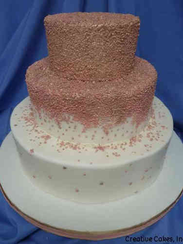 Trendy 17 Ombre Sequins Wedding Cake