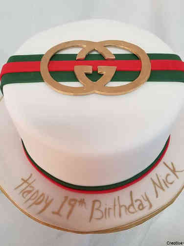 Fashion 32 Gucci Belt Birthday Cake