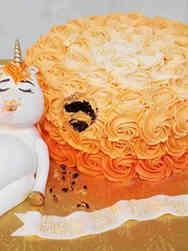 Feminine 14 Overstuffed Unicorn Birthday Cake
