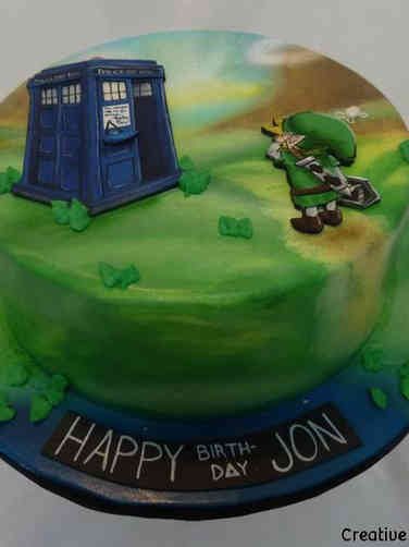 Pop 38 Link Meeets The Tardis Birthday Cake