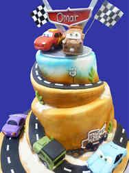 Movies 21 Cars Birthday Cake