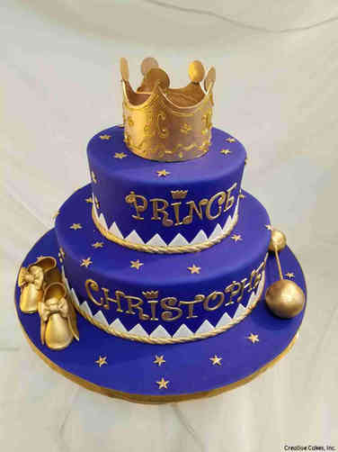 Boys 28 Royal Prince Baby Shower Cake