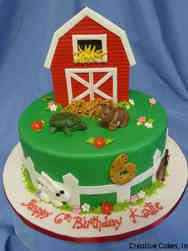 Animals 34 Barnyard Birthday Cake