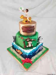 Animals 38 Animals and Ecosystems Birthday Cake