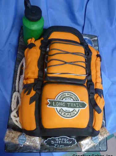 Hobbies 36 Hiker's Backpack Birthday Cake