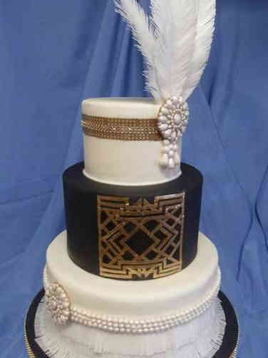 Trendy 13 Gatsby Flaper Wedding Cake