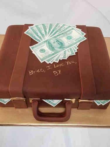 Unique 05 Money in a Suitcase Birthday Cake