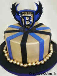Winter 21 Baltimore Ravens Celebration Cake