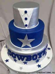 Sports 37 Dallas Cowboys Tuxedo Wedding Cake