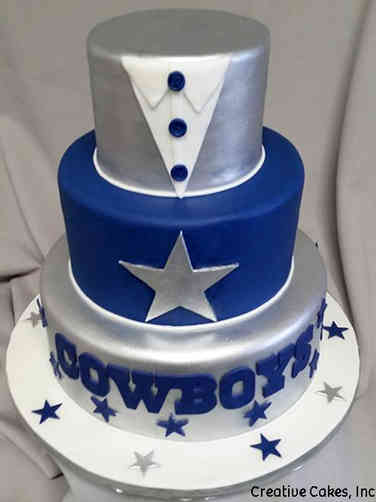 Sports 37 Dallas Cowboys Tuxedo Wedding Cake