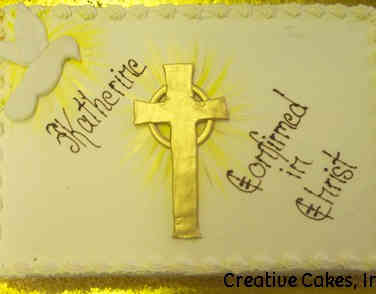 Communion 06 Dove and Cross Confirmation Cake