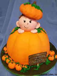 Neutral 03 Baby Pumpkin Baby Shower Cake