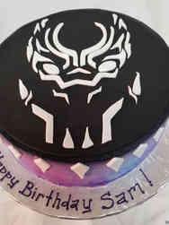 Pop 13 Minimalist Black Panther Birthday Cake