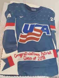 High School 06 USA Hockey High School Graduation Cake