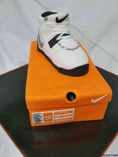 Unique 15 Nike Air Shoe and Box Birthday Cake