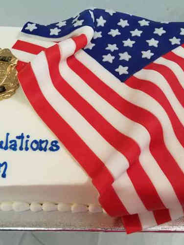 Professional 12 Police Promotion Celebration Cake