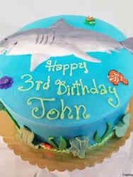 Animals 21 Swimming Shark Birthday Cake