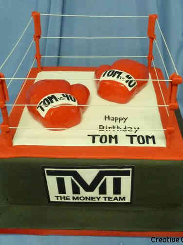 Sports 31 Boxing Ring Birthday Cake