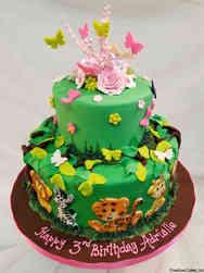 Animals 44 Jungle Animals Birthday Cake