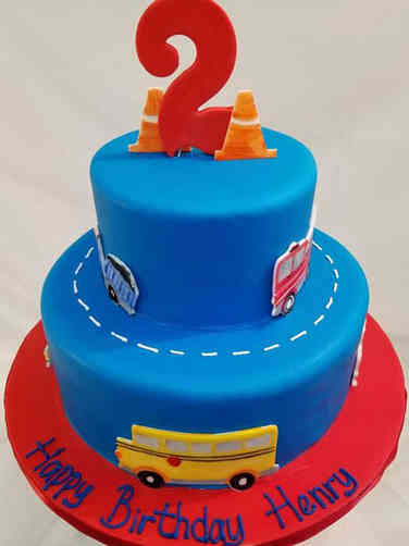 Unique 27 Cars and Trucks Birthday Cake