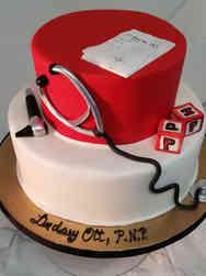 Grad School 24 Pediatric Medicine Graduation Cake