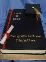 College 30 Single Black Book College Graduation Cake