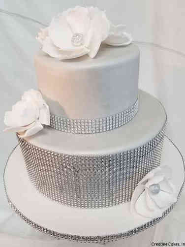 Elegant 06 Silver Bling Wedding Cake
