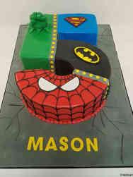 Superheroes 33 Cutout Number Superhero Birthday Cake